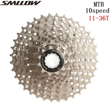цена на SUNSHIEN-SZ MTB 10s Freewheel 10 Speed Cassette 11-36T Silver Steel Flywheel for Parts Cycling Mountain Bike Bicycle Part