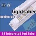 X25+ LED tube light 8ft ( tube+base all-in-one ) integrated lamp SMD 2835 2.4m 2400mm 8 feet AC85-265V 6500lm 65W led tube lamps