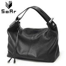SoAr Genuine leather bag luxury handbags women bags designer women shoulder messenger bags top handle bags