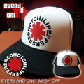 Red Hot Chili Peppers Band Logo mesh cap truck cap mesh cap truck cap black&white