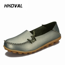 HKOVAL Women Shoes Sneakers Flats Genuine Leather Shoes Moccasins Mother Loafers  Casual Female Driving Ballet Footwear shoes women 2017 new women genuine leather flats casual female moccasins spring summer lady loafers women driving shoes