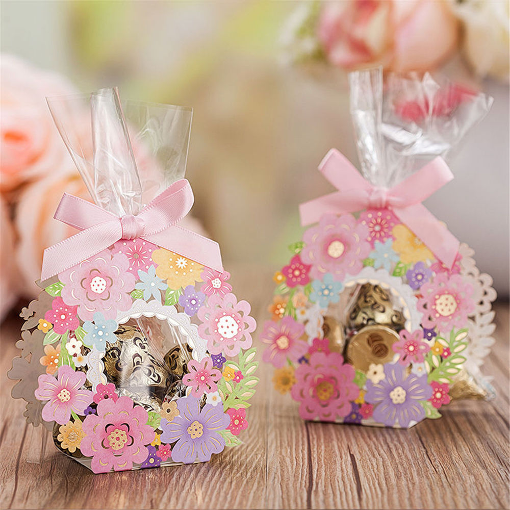 10 Pcs/lot Kawaii Pink princess carriage candy box Continental favor ...
