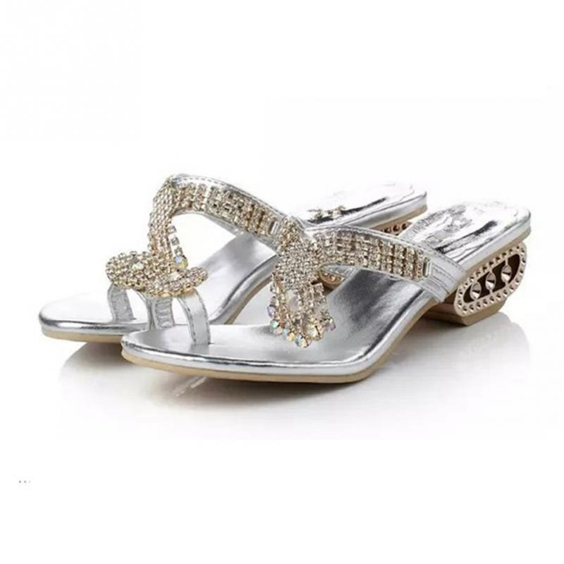 GORGEOUS PORTIA SILVER DIAMANTE BLING COMFY FLIP FLOPS SANDALS BY GLOSSY