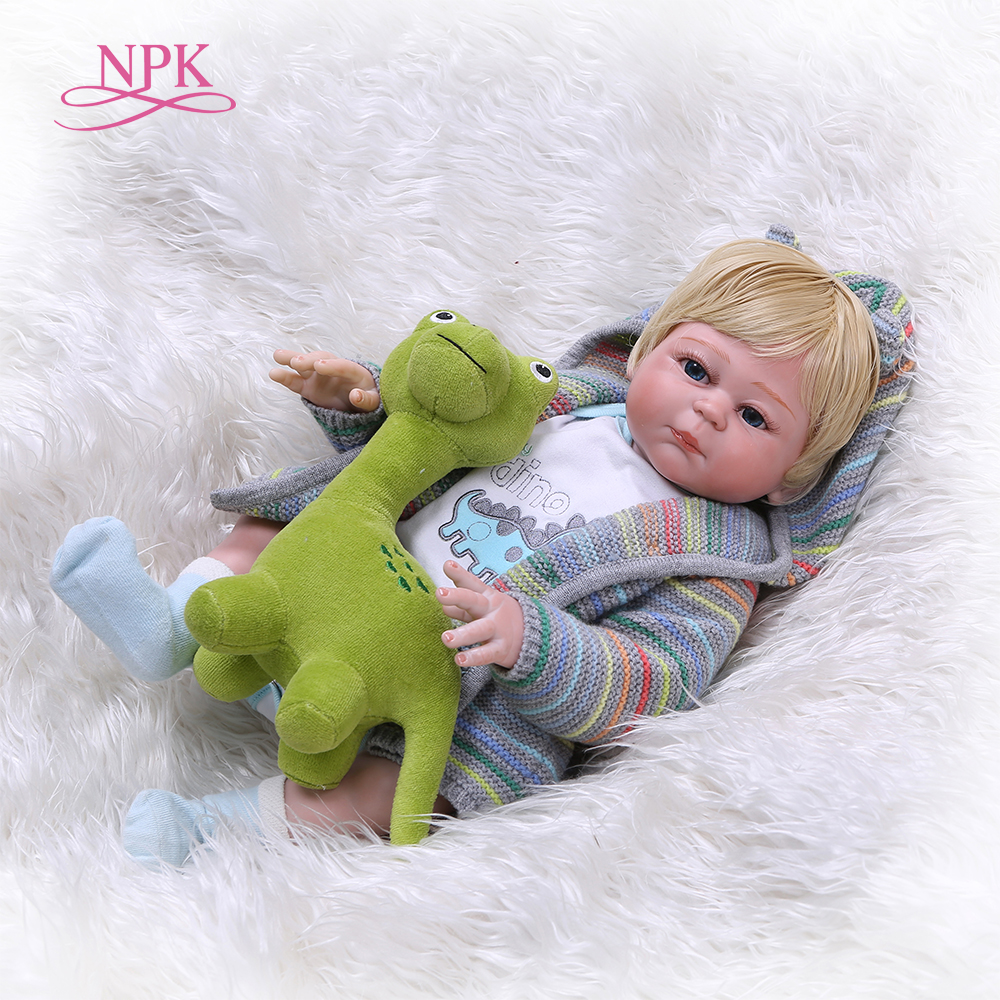 NPK Real 48CM Full Body Silicone Girl Reborn Babies Doll Lifelike Reborn Baby Doll Wholesale Boneca Reborn Silicone Girls Gifts warkings reborn
