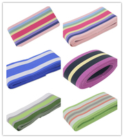 2 50mm Colourful Beautiful Stripe Grosgrain Ribbon For Sewing Supplies SGR 50 4