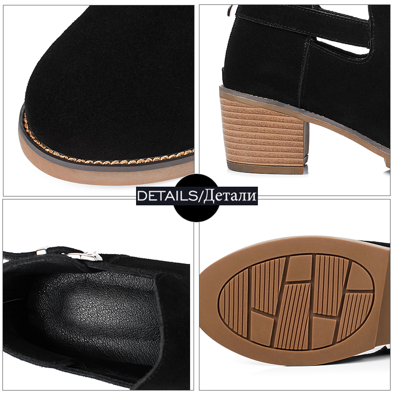 quadrato alti tacco nero tacco tacchi 2018 scarpe donna vertice scamosciato New giallo tacchi stivaletti alti primavera Wetkiss fashion f1Uw7U