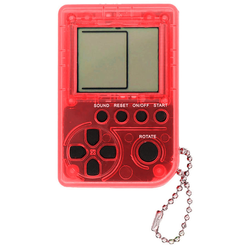 Tetris Mini Child Video Game Console Toy Built-In 26 Games Use For Key Chain Ring Holder Kids Gift