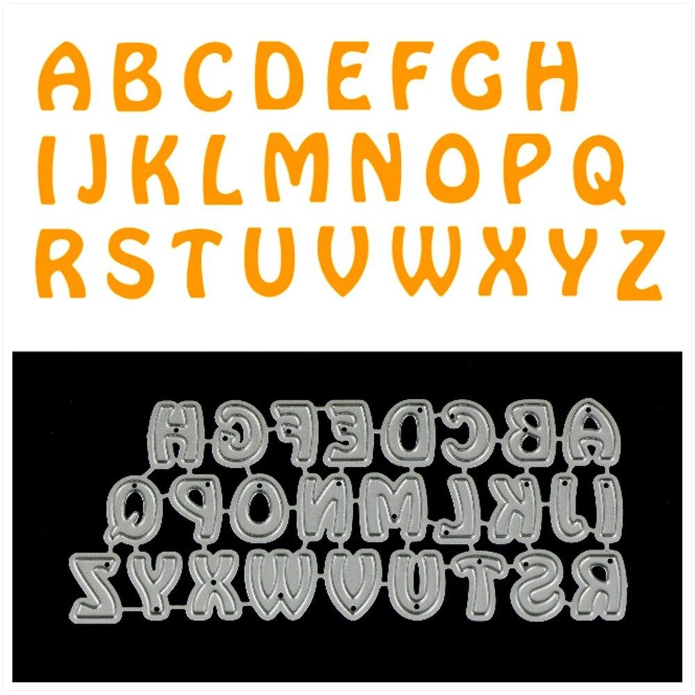 Letaosk 26Pcs/Set Handmade Diy Craft Capital English Alphabet Letter Frame Cut Cutting Dies Mold Tool Stencils Scrapbooking Scrapbook Embossing Card Scrapbooking Scrapbooking Tools
