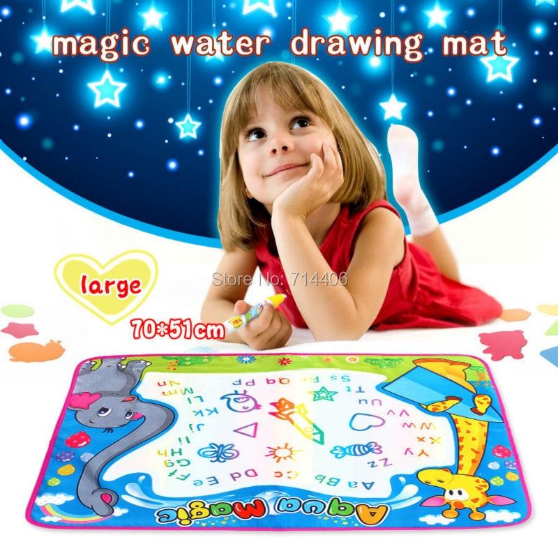Large 70 51cm Aqua Magic Water Drawing Mat Water Pen Baby
