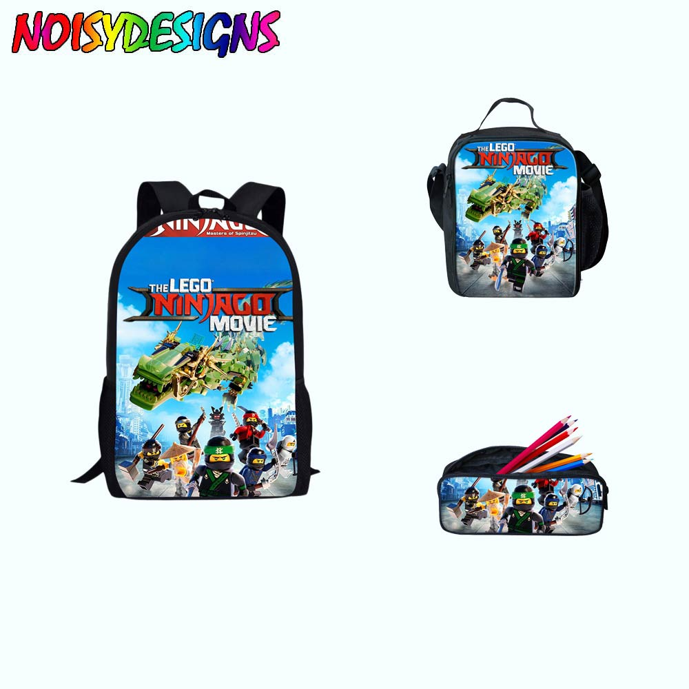 2018 Hot Popluar Movie Ninjago Printing School Shoulder Messenger Bag For Kids Boys Girls Book Bags For Children Available In Various Designs And Specifications For Your Selection Kids & Baby's Bags