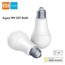 Оригинал Сяо mi Aqara W E27 лампы 2700 K-6500 K 806Lum Smart белый Цвет Светодиодный лампочки работать с Apple Комплект домашний и mi Цзя mi App