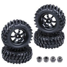 4pcs 96mm Rubber 1 9 inch RC Crawler Tires Tyre Wheel Rim 12mm Hex For 1