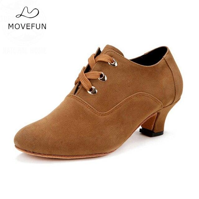 117a9c9f6718 MoveFun Marke Erwachsene Latin Dance Schuhe Satin Salsa Ballroom Dance  Turnschuhe für Mädchen Damen