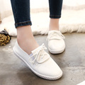 Verão 2017 Nova Lace Up Mulheres Sapatos Casuais Senhoras Confortáveis Formadores Branco Liso Sapatos De Luxo Da Marca Zapatillas Deportivas Mujer