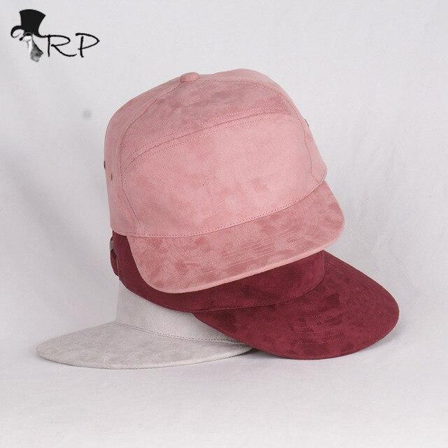 Daim Marque velours daim marque blanc 5 panneau casquettes hip hop chapeau os
