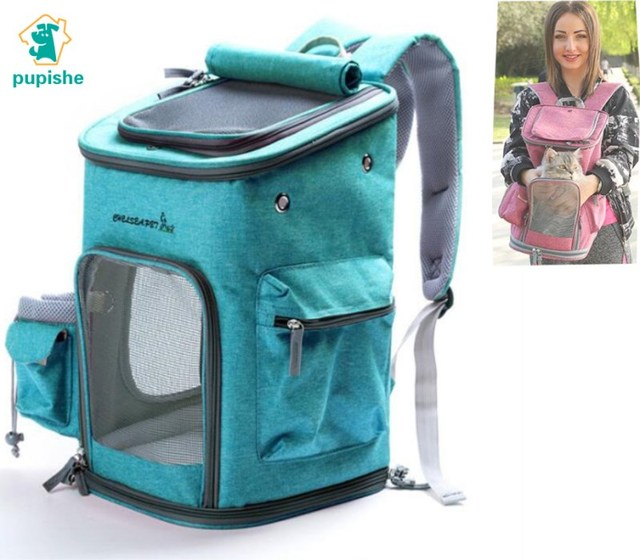PUPISHE 2019 Luxury Oxford Pet Carrier Backpack For Dog Portable Travel Cats Animal Handbag Outdoor Shoulder Bags Yorkie