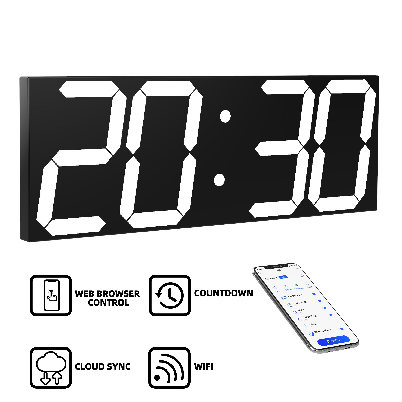 HOT HOT HOT WIFI Wall Clock Home Living Room Modern Minimalist Atmosphere Clock Wood Clock Mute Creative Bedroom Clock