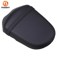 POSSBAY Motorcycle Rear Leather Seat Cover For Suzuki K9 Motorcycles Rear Passenger Seat Cover Pad Moto Seat Accessories