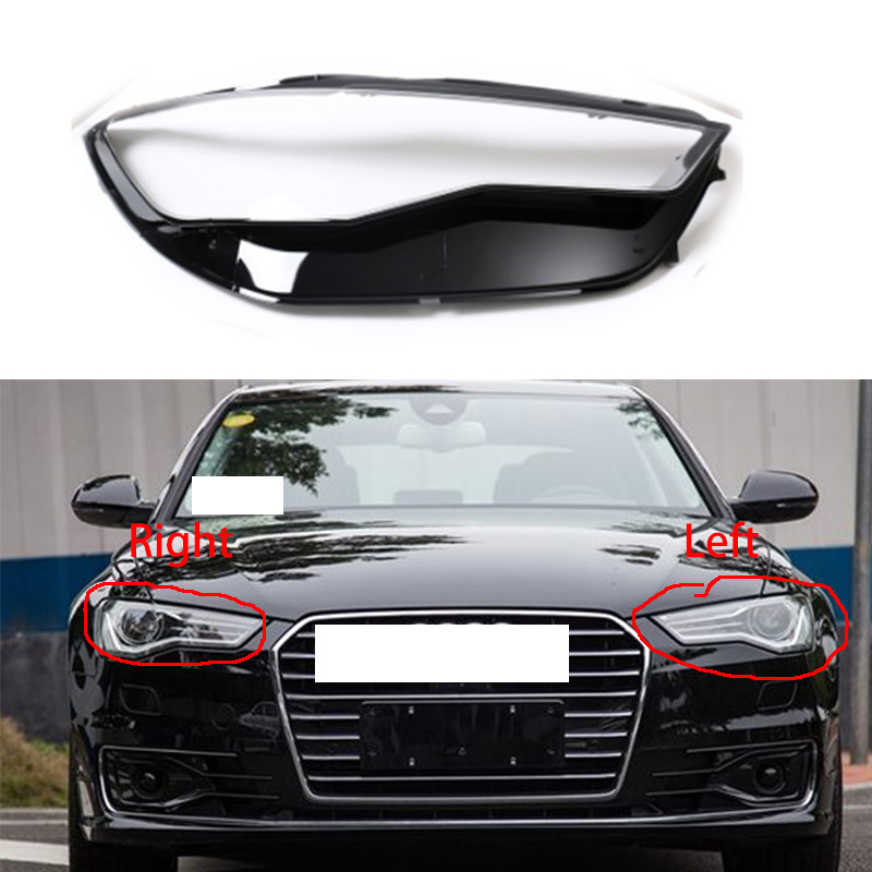 1pcs For Audi A6 A6L C7PA 16 18 headlight cover headlight lamp shell headlamps transparent lampshade