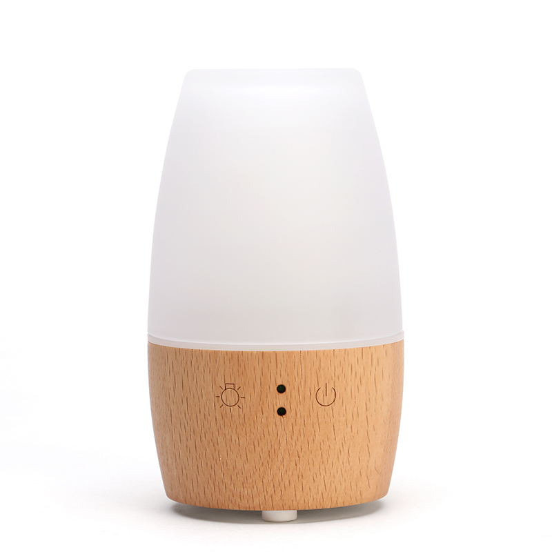 220 V madera romántica automático Aroma aceite esencial lámparas enchufe en Mini luz nocturna humidificador purificador de aire pulverizador regalo hogar decoración - 3