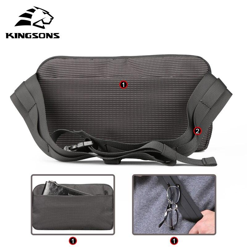 Kingsons Male Shoulder Bags Crossbody Bags Men Anti Theft Chest Bag School Summer Short Trip Messengers Bag 2019 New Arrival