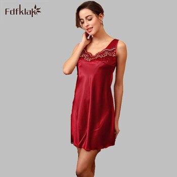 536658f0ef9d0 Seksi Gecelik Kadın Kısa Saten Gecelikler Pijama Kadın Ipek Gecelik Kadın  gece elbisesi Kıyafeti Büyük Boy E0173