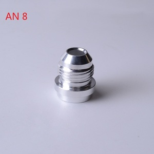 Image 3 - SPEEDWOWอลูมิเนียมคุณภาพสูงAN4 6 8 10 12 16 ANตรงชายWeld Fittingอะแดปเตอร์Weld Bungไนตรัสท่อSilver