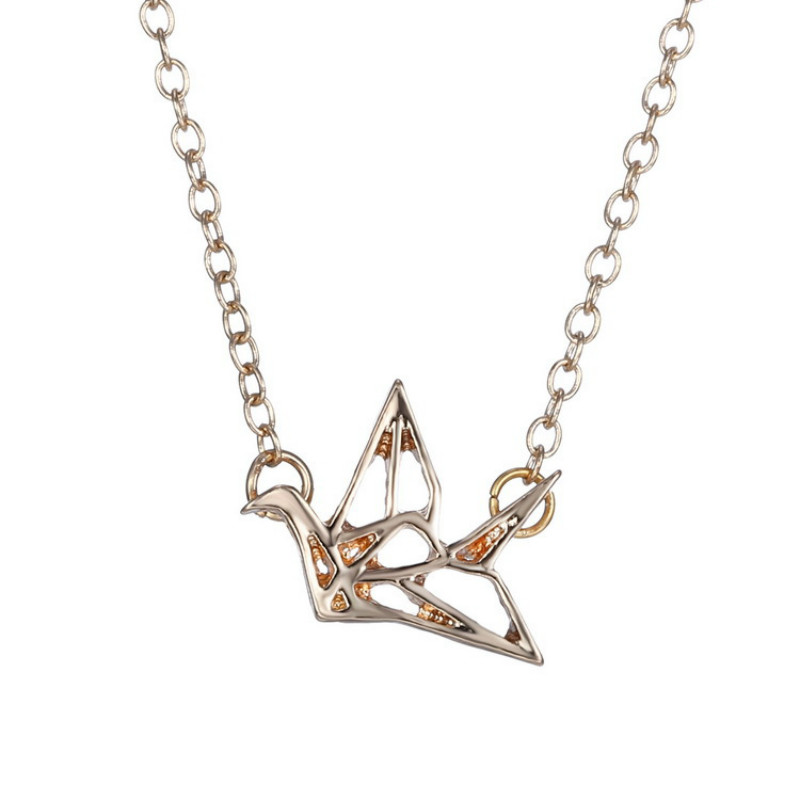 Brand jewelry stainless steel origami paper crane pendants brand jewelry stainless steel origami paper crane pendants necklace for women best friend gift summer jewelry silver chain in pendant necklaces from jewelry mozeypictures Choice Image