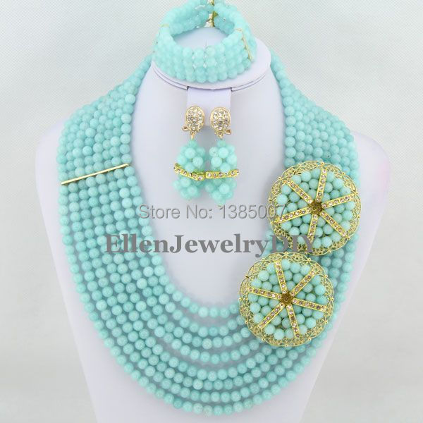 Excellent Design 8 offers Mint Green hot Jewelry Set,Bridesmaid Gift,hot Necklace Bracelet Earrings,Wedding Jewelry Set  JL4128