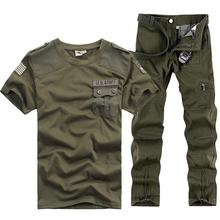 US Army Tracksuits Sports Sets Men Military Training Camping Hiking Outdoor Running Suits Serve Fans Uniform