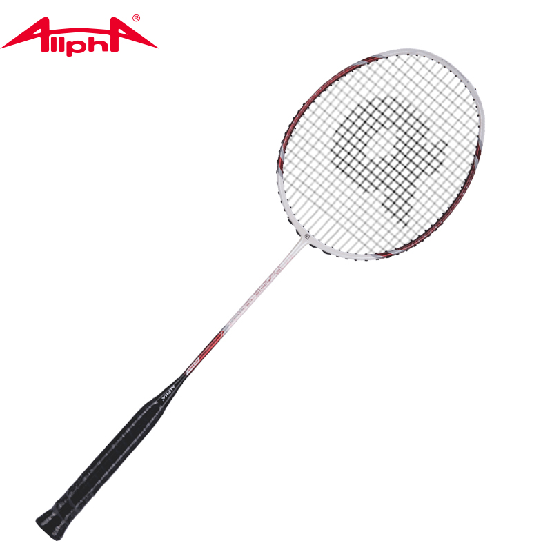 Alpha Badminton Rackets Single Racket Element Carbon Fiber Lightweight Soft Badminton Racket FLAME16 Fire