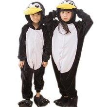 927a4ba19af6d Animal mignon pingouin pyjamas enfants Onesies bébé Cosplay Costume unisexe  robe enfants vêtements garçons filles vêtements de n.