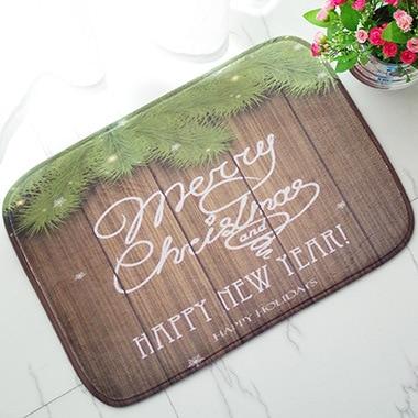 Free Shipping 1 pcs Embroidered printing Non-slip mats Big Door Bathroom Carpet Bedroom Door Soft High Quality Floor Mat BAHE007