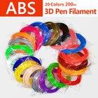 Quality product abs 1.75mm 20 colors 3d pen filament pla filament abs filament 3d pen plastic 3d printing filament abs plastic