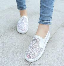 Новый мода лето женская обувь сетка плоская платформа мокасины круглый носок удобные квартиры повседневная обувь маленький большой размер 32-44 0149