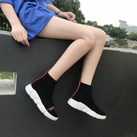 Tennis Shoes For Women Travel Fitness Shoes Girl Skateboarding Shoes Socks Net Breathable Sneakers Women Shoes Hip Hop Flat
