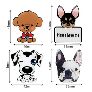 Image 4 - 車の出口香水かわいい子犬犬自動車空気清浄車の装飾ソリッドフレグランスエアコン出口クリップ自動装飾