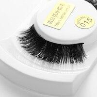1Pair Fashion 100% Real Mink Handmade Long Beauty Thick Long Eyelashes Makeup False Eyelashes Black Natural Eye Lashes Extension False Eyelashes