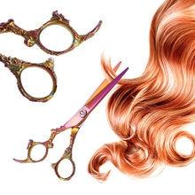 Japão makas 4cr tesoura de corte de cabelo corte de cabelo do salão de beleza tesoura Salão de barbeiro Profissional tesouras de desbaste tesouras de cabeleireiro