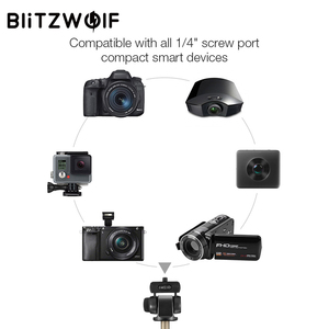 Image 4 - BlitzWolf BW BS3 Sport bluetooth Selfie Stick Extendable Foldable Wireless Monopod Tripod for Gopro 8 7 6 Osmo Action For Xiaomi