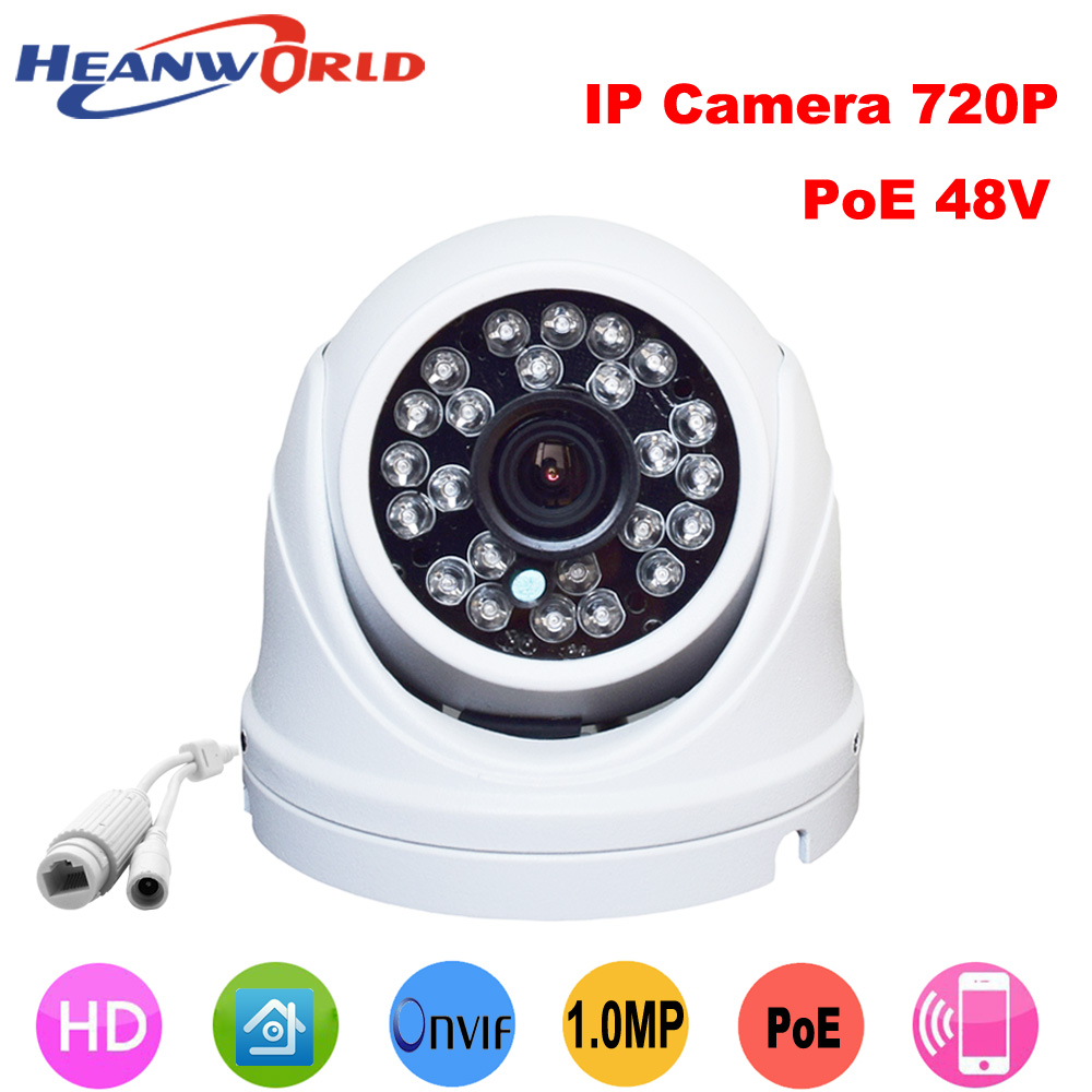 Beautiful waterproof mini dome  Ip camera 720p support POE cctv security surveillance camera onvif Infrared IR camera outdoor cctv cam ip camera 1080p hd outdoor waterproof pt onvif surveillance inspection dome security camera ir led