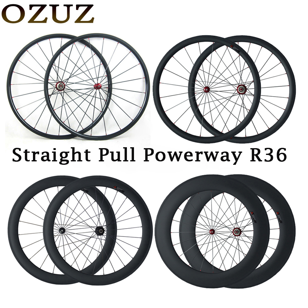 все цены на Straight pull 24mm 38mm 50mm 88mm 700C carbon wheels clincher tubular 23mm width road bike wheelset 3k bicycle tax included онлайн