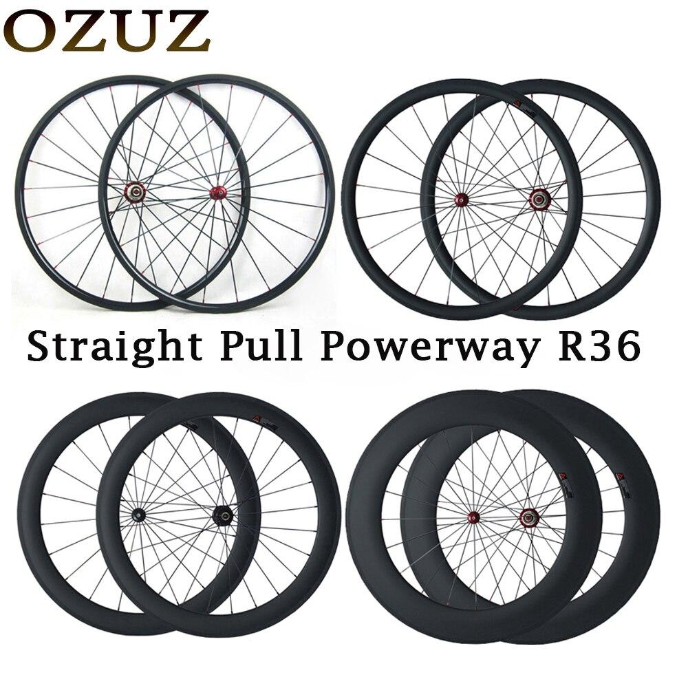 Tirare dritto 24mm 38mm 50mm 88mm 700C ruote in carbonio per copertoncino tubolare 23mm larghezza della bici della strada wheelset 3 k della bicicletta tassa incluso