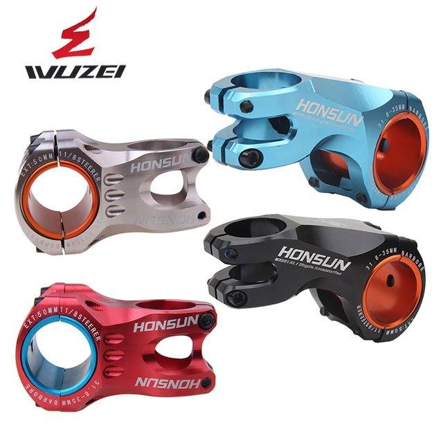 WUZEI 50/70mm חוזק גבוה קל משקל 35mm 31.8mm גזע עבור XC AM MTB הר כביש אופני אופניים חלק