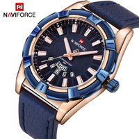 2018 NEW NAVIFORCE Luxury Brand Men S Quartz Watches Men Fashion Casual Leather Sports Watch Man