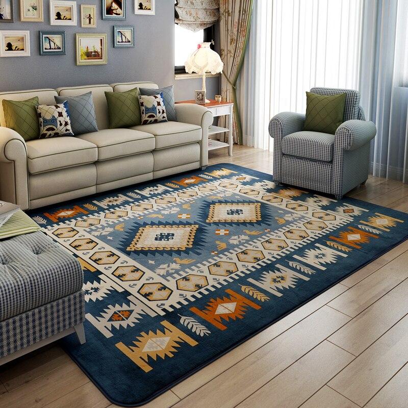 Online kopen Wholesale blauw tapijt woonkamer uit China blauw ...