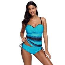 2018 Novas Mulheres de Verão Imprimir Bikini Set Push Acolchoado Bra Swimsuit Swimwear Triângulo Terno Terno de Natação biquini Banhista