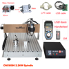 CNC 6090 Router Milling Engraving Machine 3axis/4axis 2200W USB/Parallel Port Water Cooling Carving Ball Screw Cutting Machine