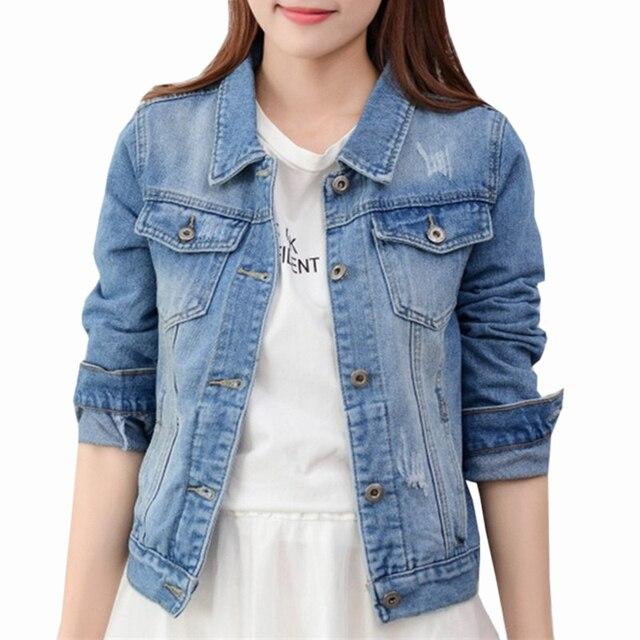 Denim Jacket Women Slim Jeans Overcoat Ladies Basic Jackets Tops