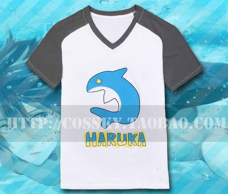 New Arrival Japan Hot Recommend Free ! Iwatobi Swim Club T Shirt Cosplay Costume Anime Costumes
